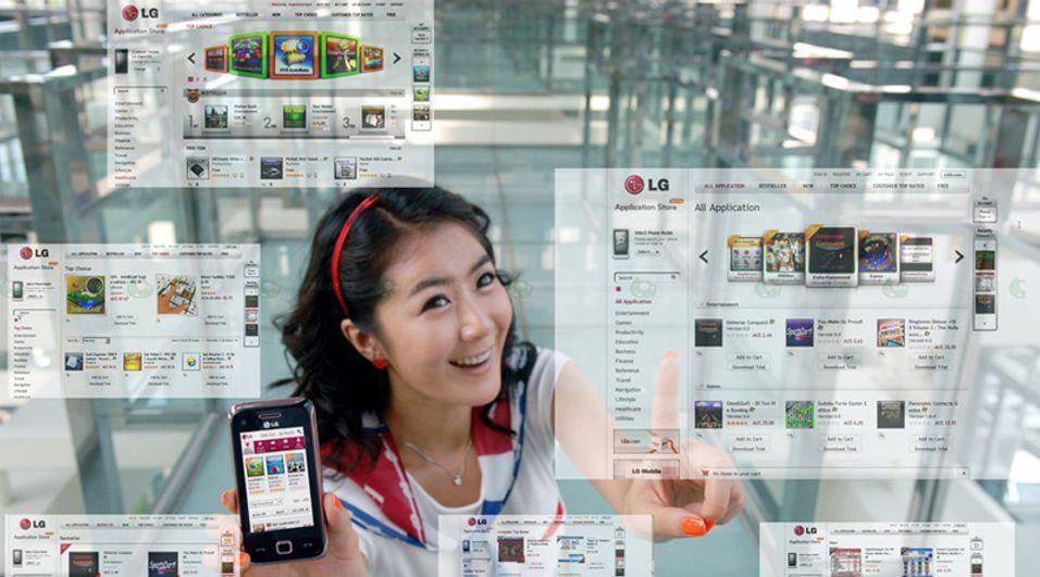 LG viser frem sin nye programvarebutikk.