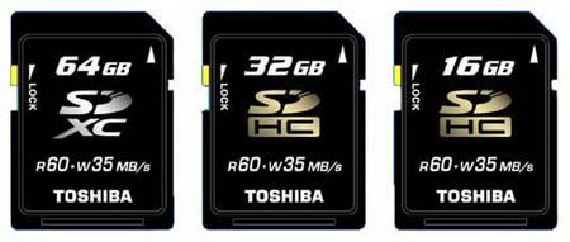 Nye, store og rask SD-kort fra Toshiba.