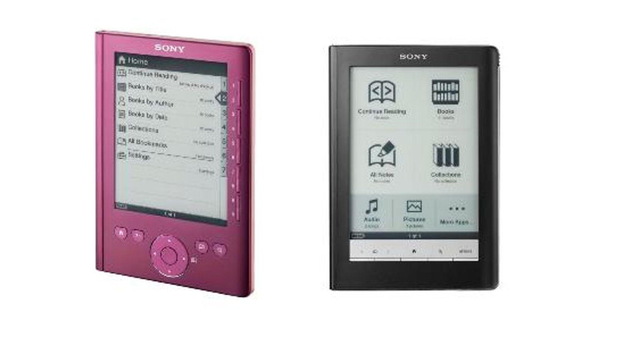 Sonys PRS-300 til venstre og PRS-600 til høyre. (Foto: Sony)