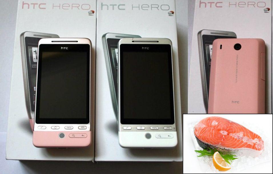 HTC Hero i rosa