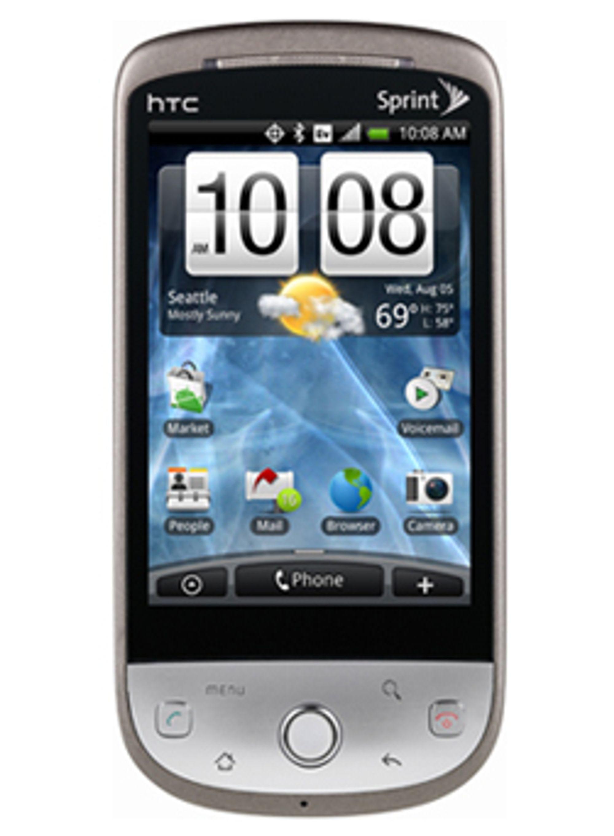 Sprints utgave av HTC Hero. (Foto: Engadget Mobile)