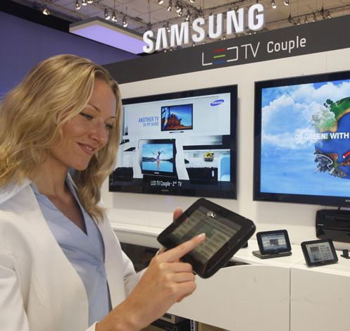LED TV Couple i bruk