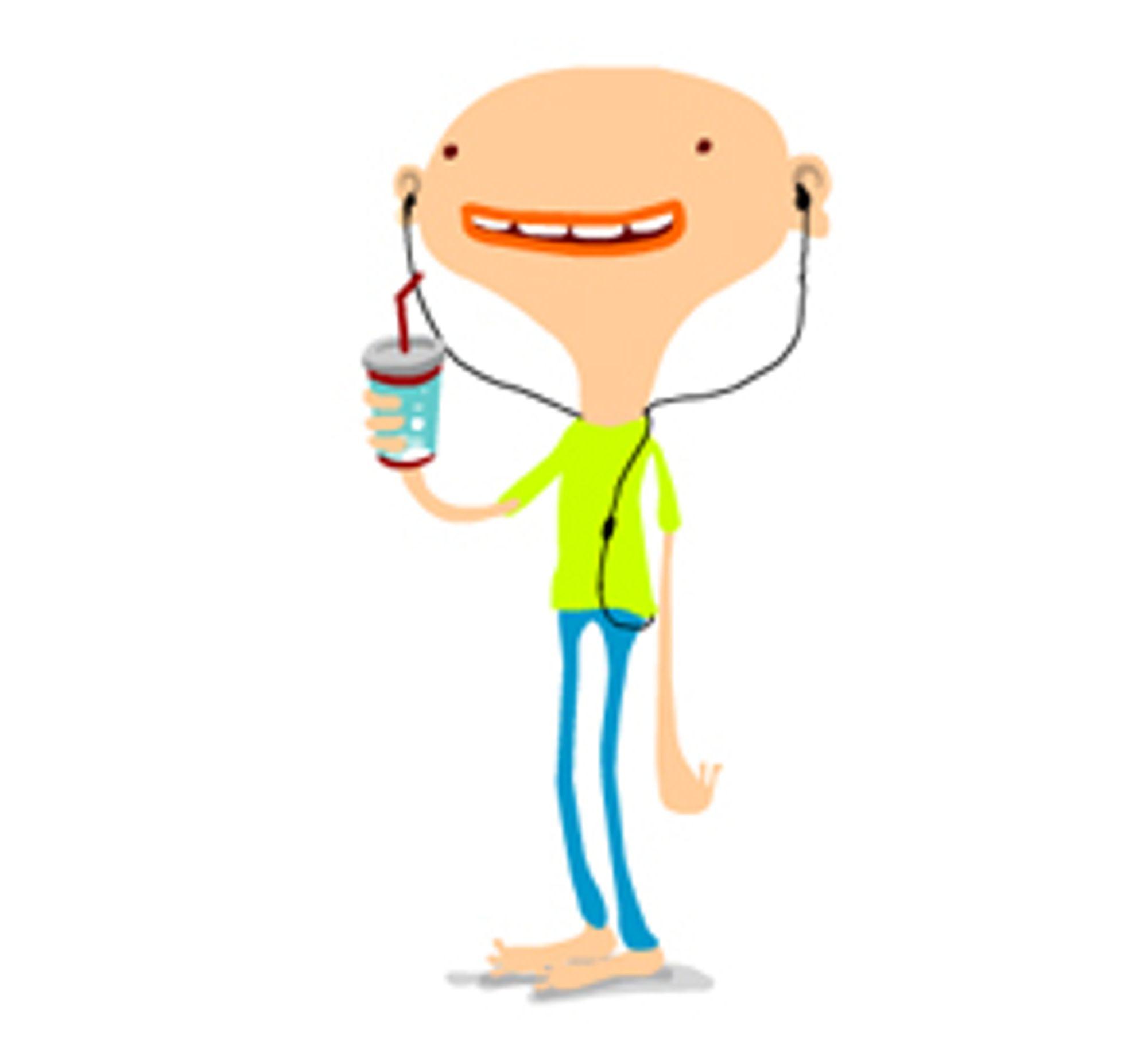 Denne herren figurerer på Sony Ericssons nye sider, http://www.sonyericsson.com/putyourearsincontrol/.