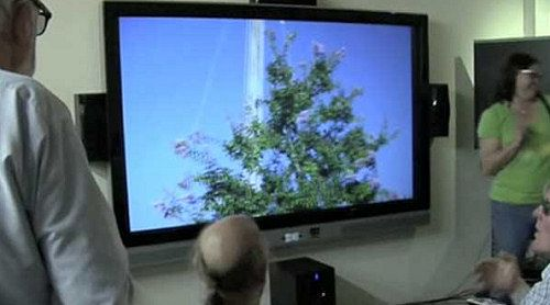 HDIs 100-tommers 3D-laser-TV (Foto: abclocal.go.com)
