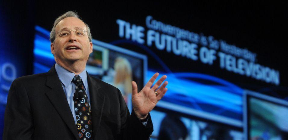 Intel CEO Justin Rattner forteller om fremtidens TV (foto: Intel)