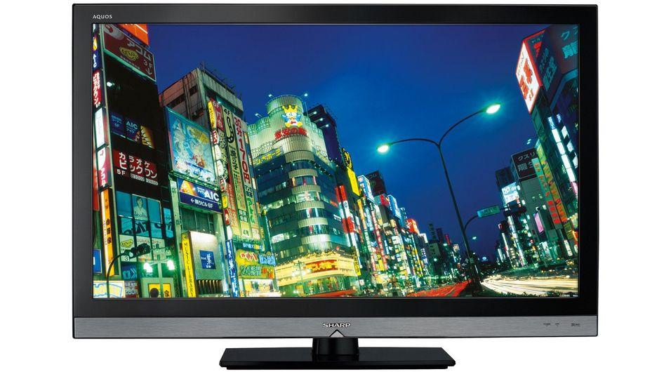 Alle TV-er bør kalibreres - for bedre bilde og lavere energiforbruk: Her representert ved Sharps LED LCD-modell  LE600