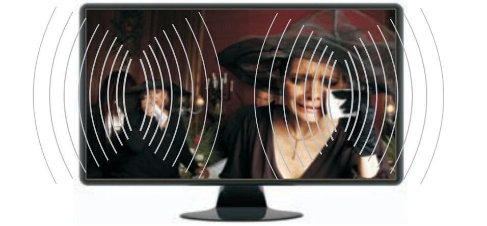 Emo Labs monterer to gjennomsiktige piezo-høyttalere oppå skjermen (foto: produsenten)