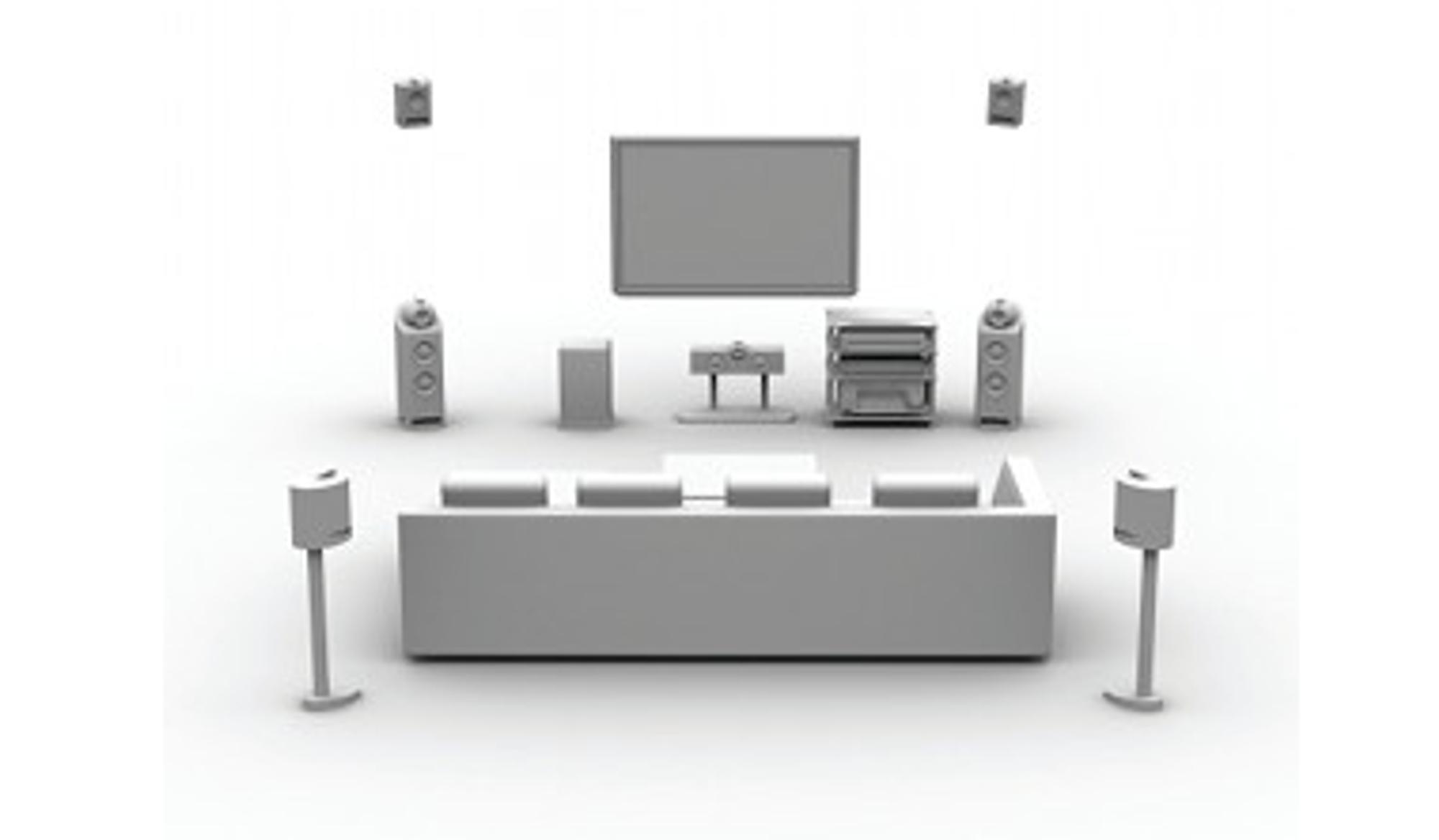 Pro Logic IIz-oppsett (illustrasjon: Dolby)