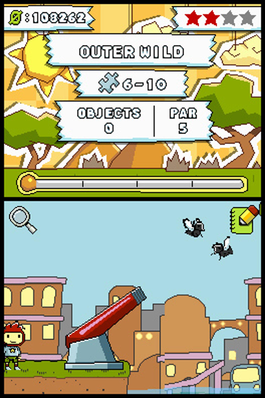 Å skyte fluer med kanon er en av de kjedeligere tingene du kan gjøre i Scribblenauts.