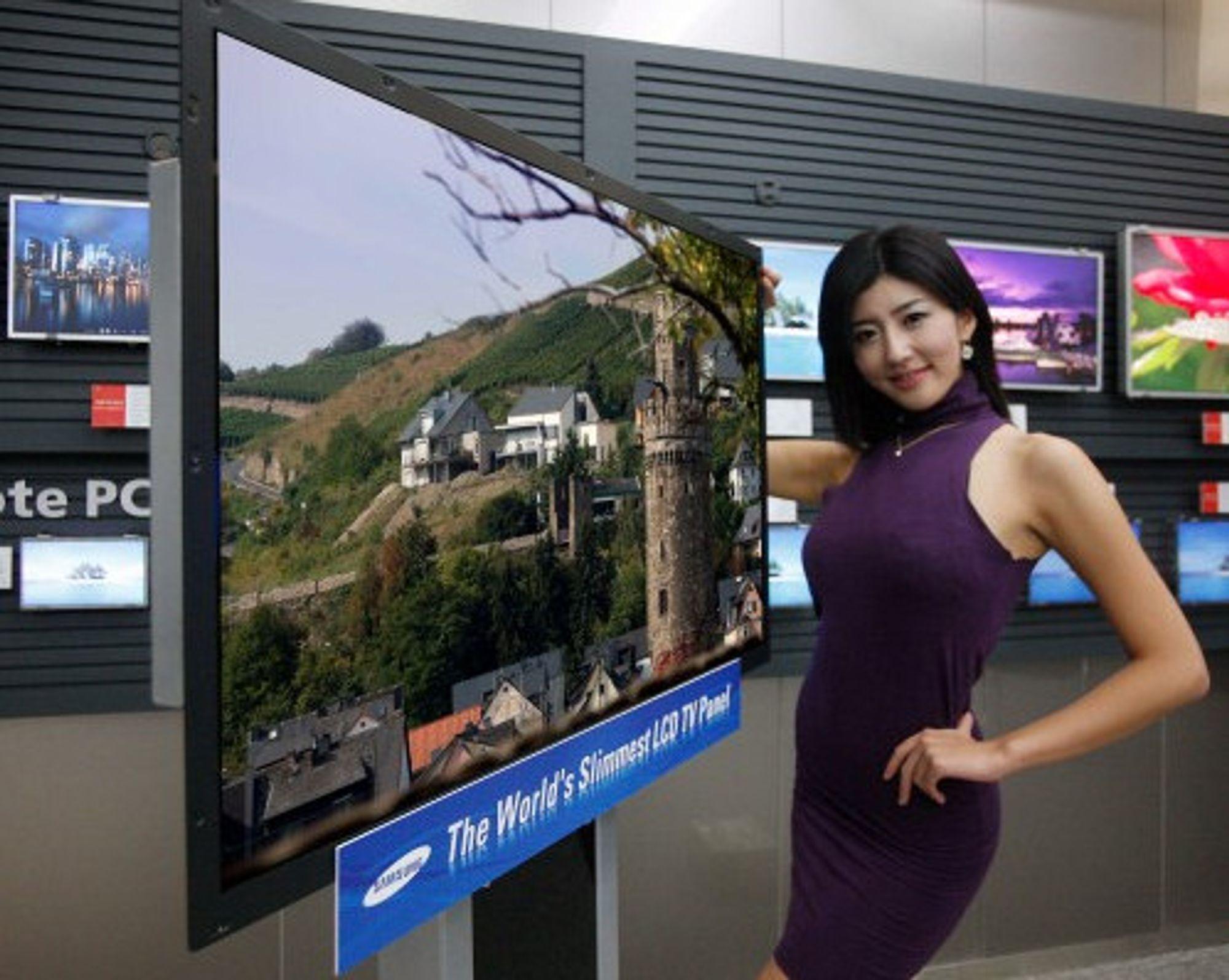 Samsungs 40-tommer er bare 3,9 mm tykk (Foto: Samsung)