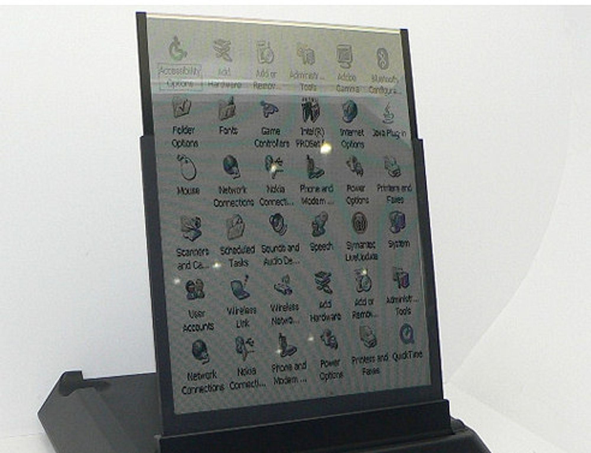 Samsungs nyeste prototype på e-papir viser farger, men ikke video