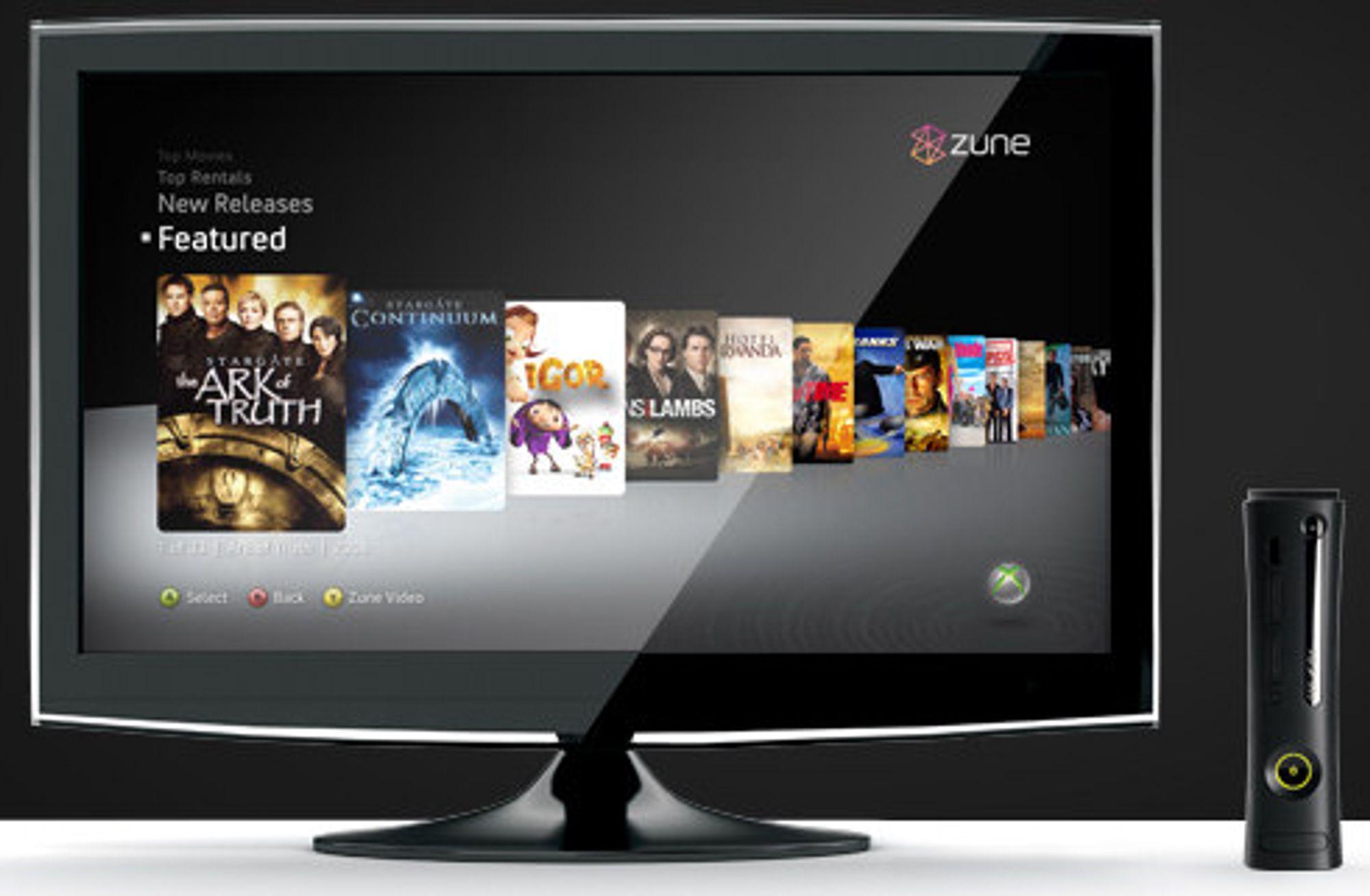Zune Video Store: I dag får norske Xbox 360 mulighet for flimleie