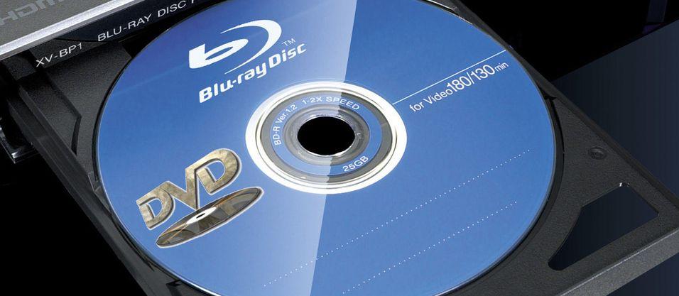 Blu-ray og DVD på hver sin side. Bra ting eller to år for sent? (Illustrasjonsbilde)