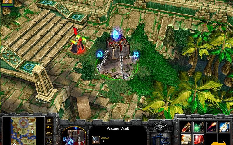04.08.2010. WarCraft 3 the Frozen Throne, скрин из игры ВарКрафт. Dumbass.