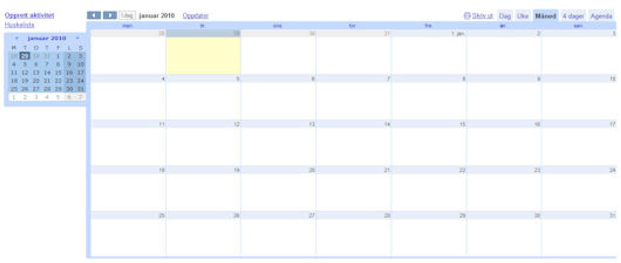 guide guide kalendere google kalender. Black Bedroom Furniture Sets. Home Design Ideas