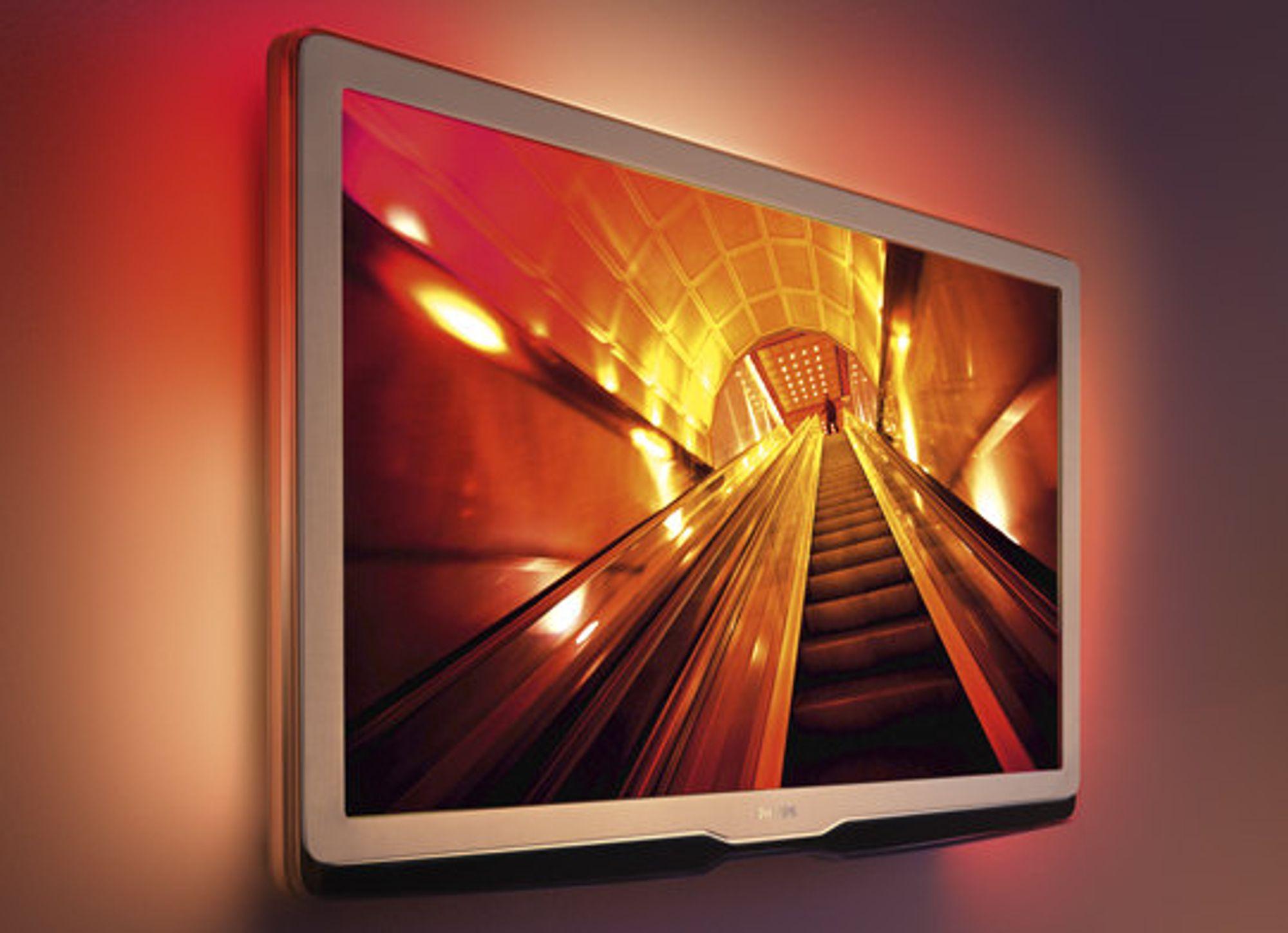 LED LCD fikk fart på seg i 2009: Her representert ved Philips 9704-serien