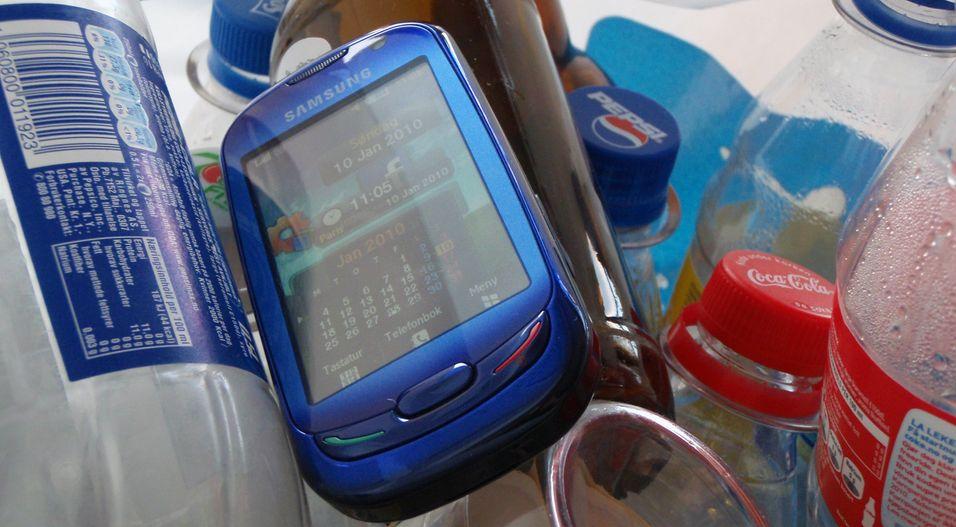 Samsung Blue Earth er blant annet laget av resirkulerte flasker.