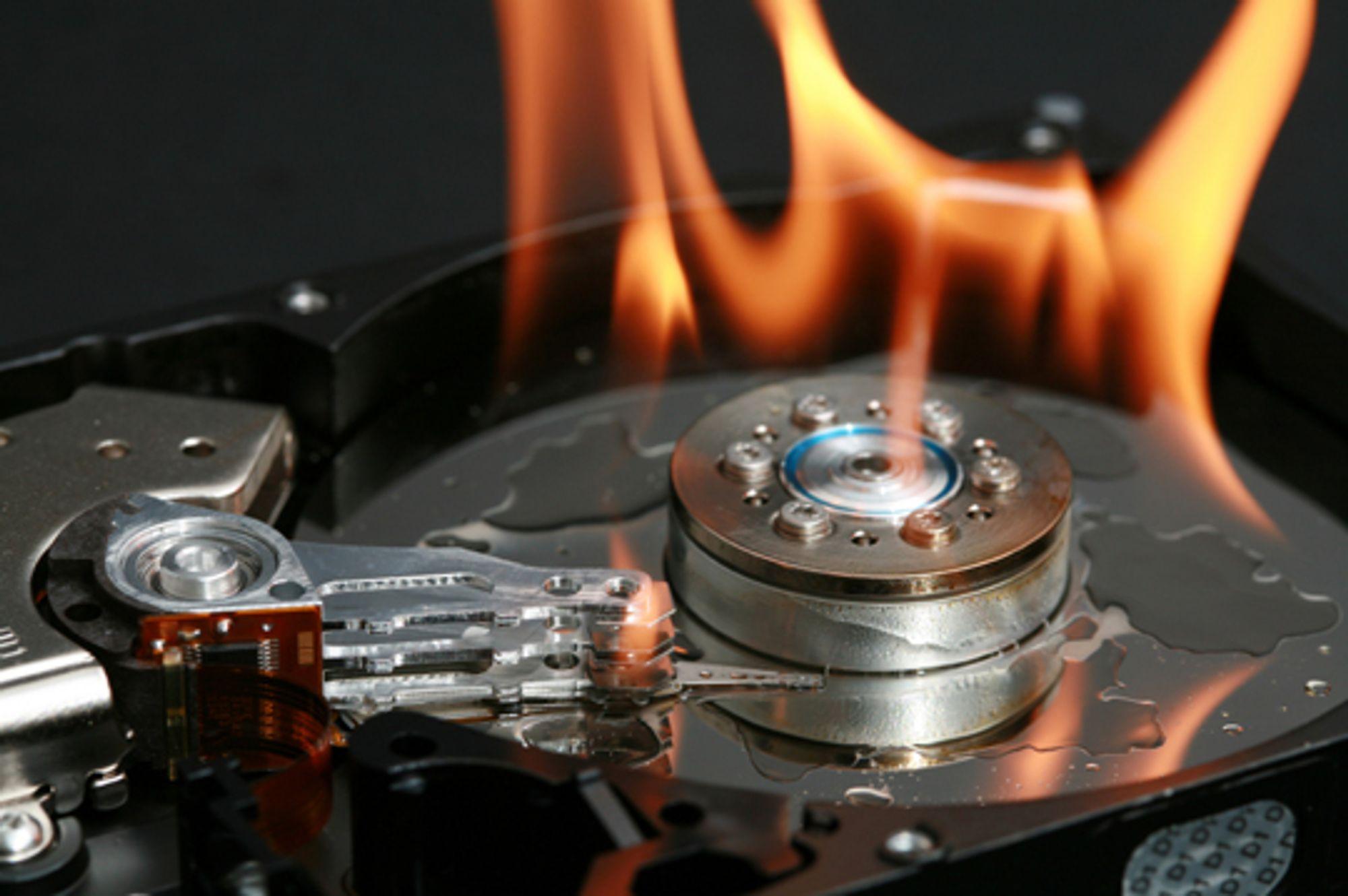 Typisk noe du IKKE ønsker skal skje med harddisken din