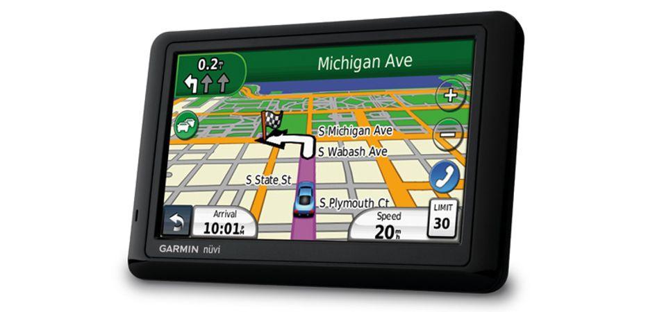 Friluftskart på bil-GPS-en