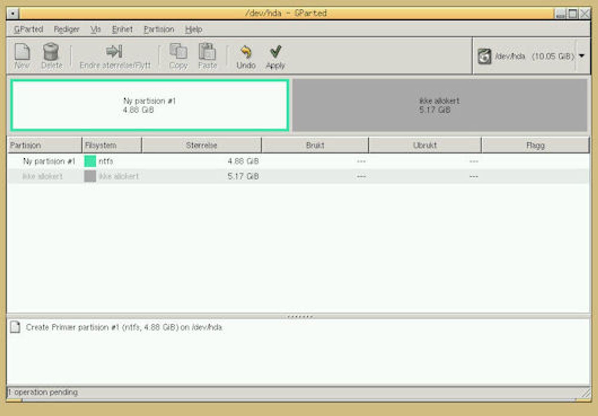 Partisjonere harddisk windows 10