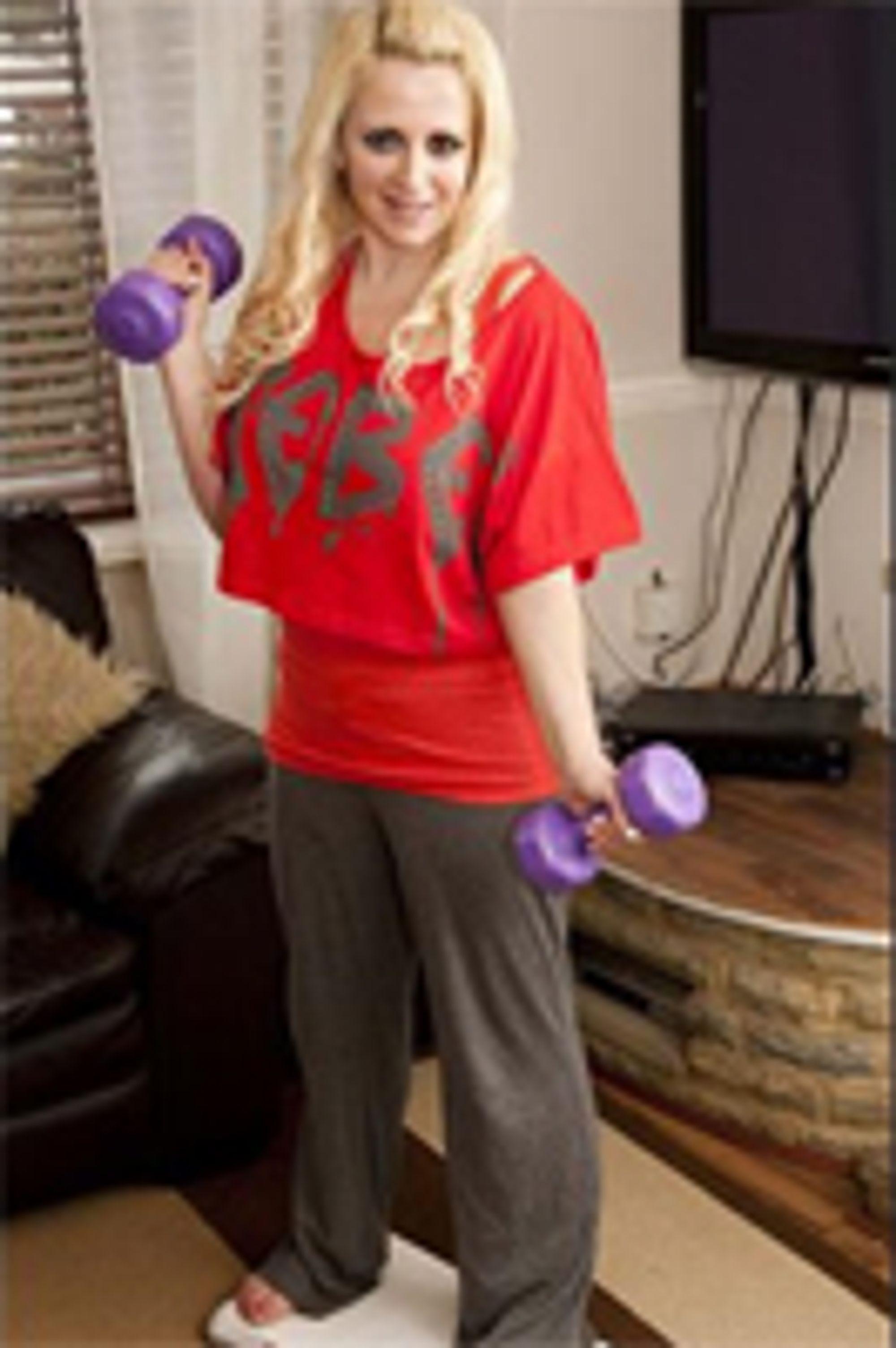 Takker Wii Fit for sin nye kropp.  Foto: notw.co.uk