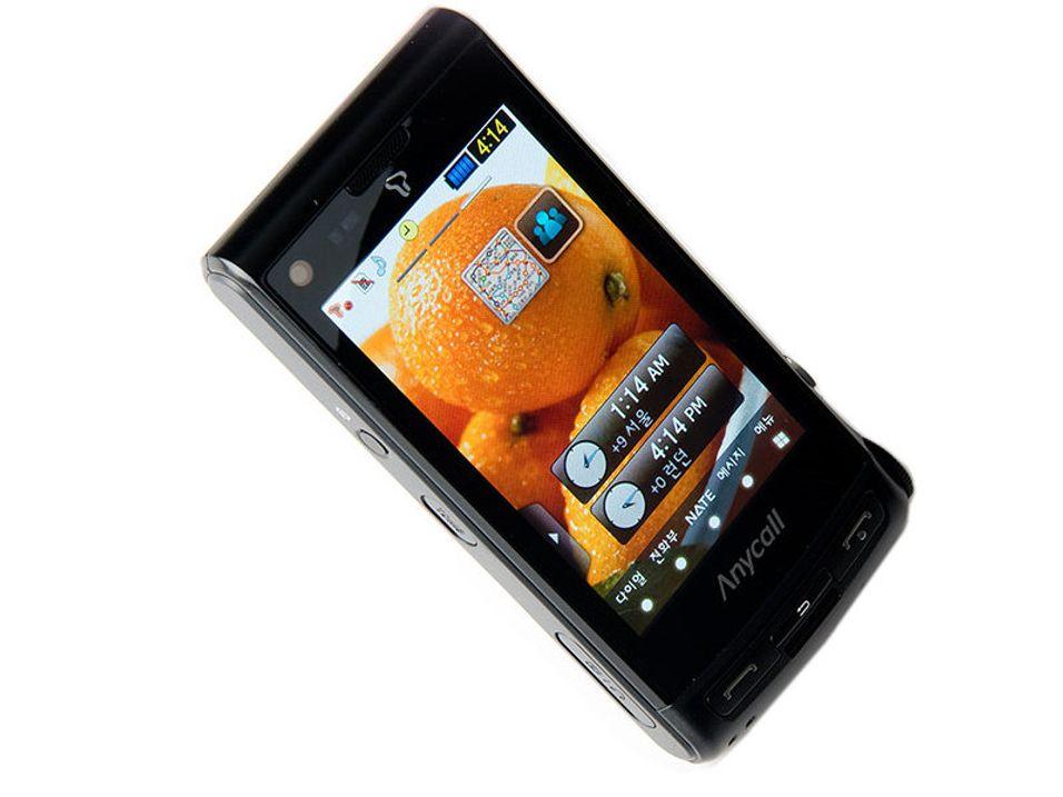 Tar i bruk den trykkfølsomme AMOLED-skjermen på 3,3 tommer: Samsung SCH-W880