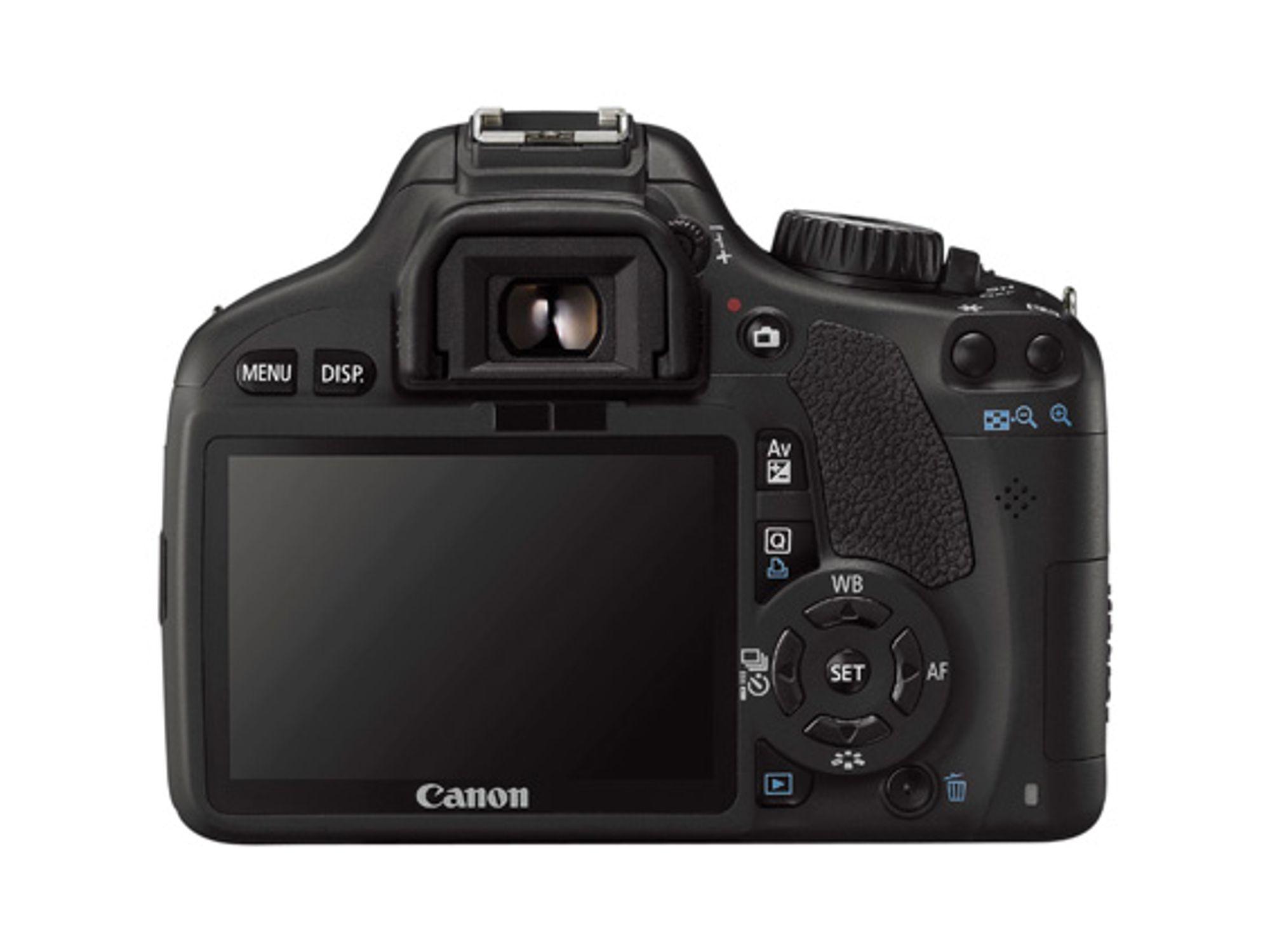 Canon Eos 550D med nytt skjermformat.