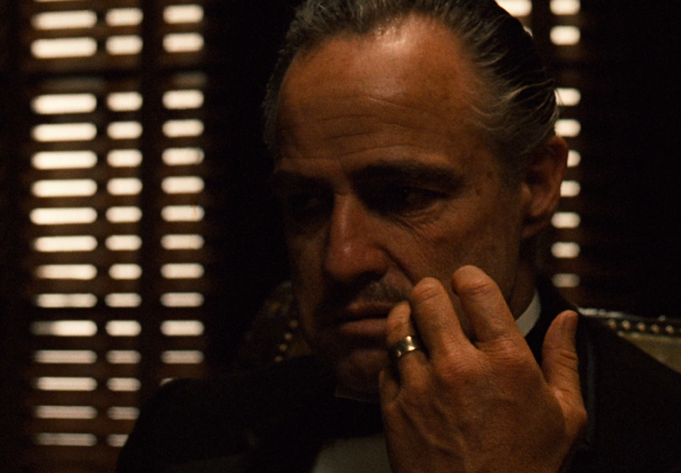 Marlon Brando som Vito Corleone.