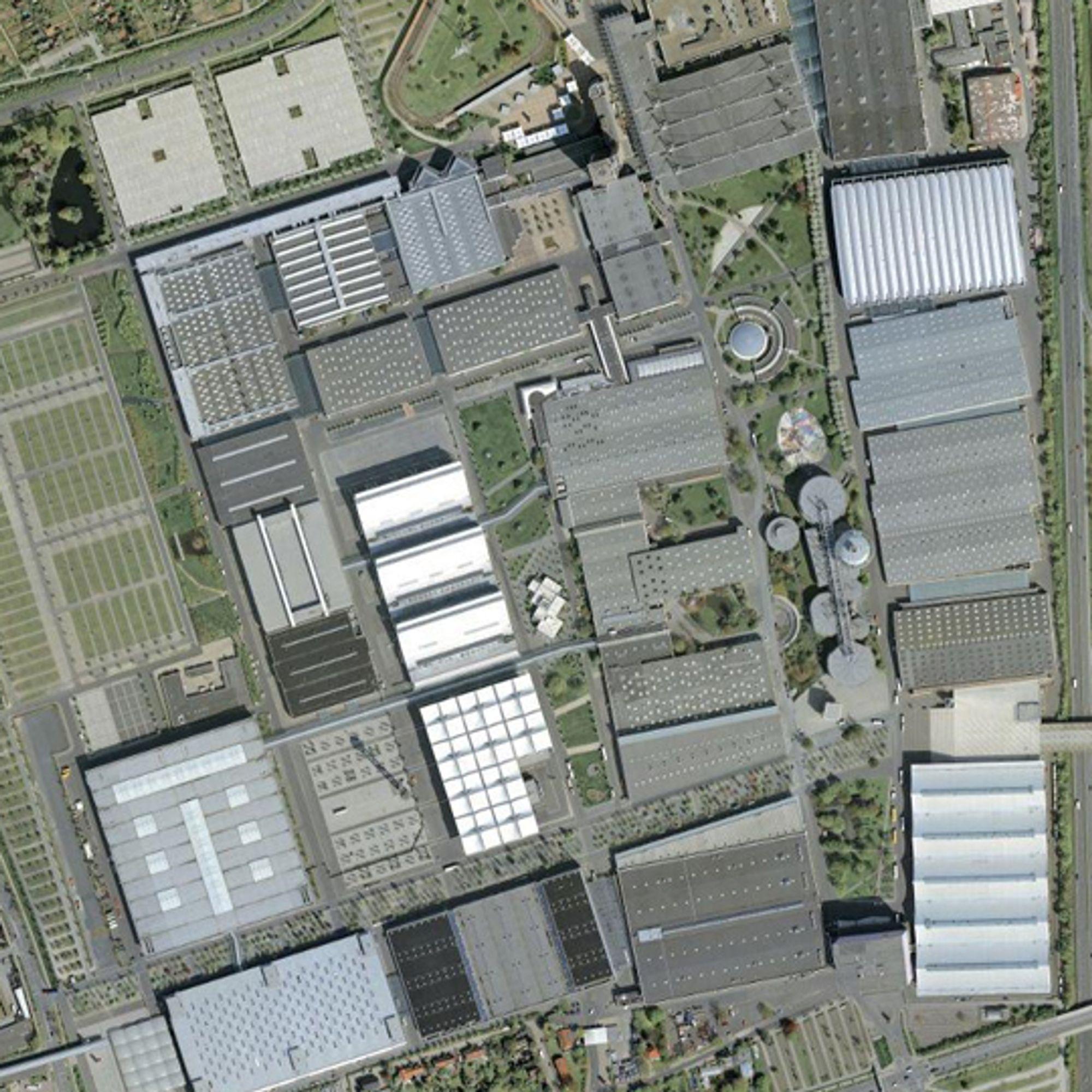 Messeområdet, bilde: Google Maps