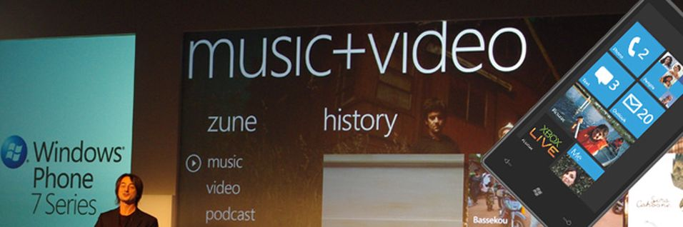 Microsofts Joe Belfiore under lanseringen av Windows Phone 7 Series (Foto: Finn Jarle Kvalheim, Amobil.no)