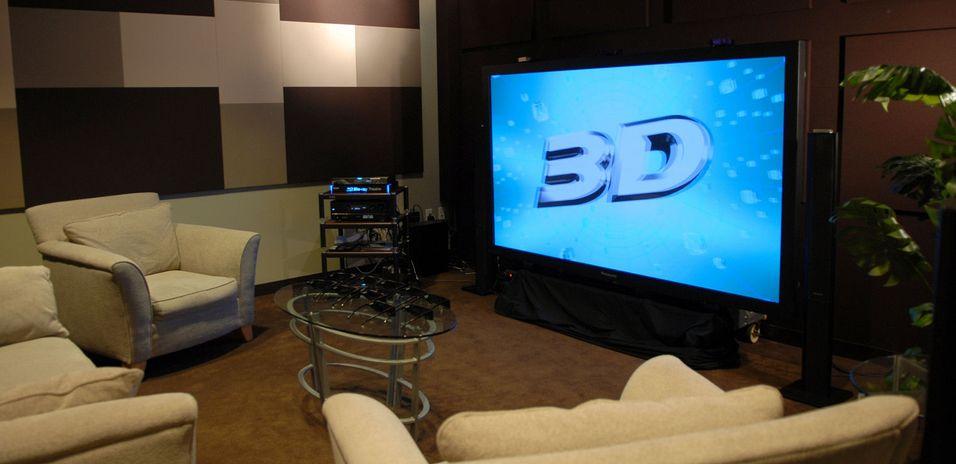 3D-TV i stua - mye å forholde seg til (Foto: Panasonic)