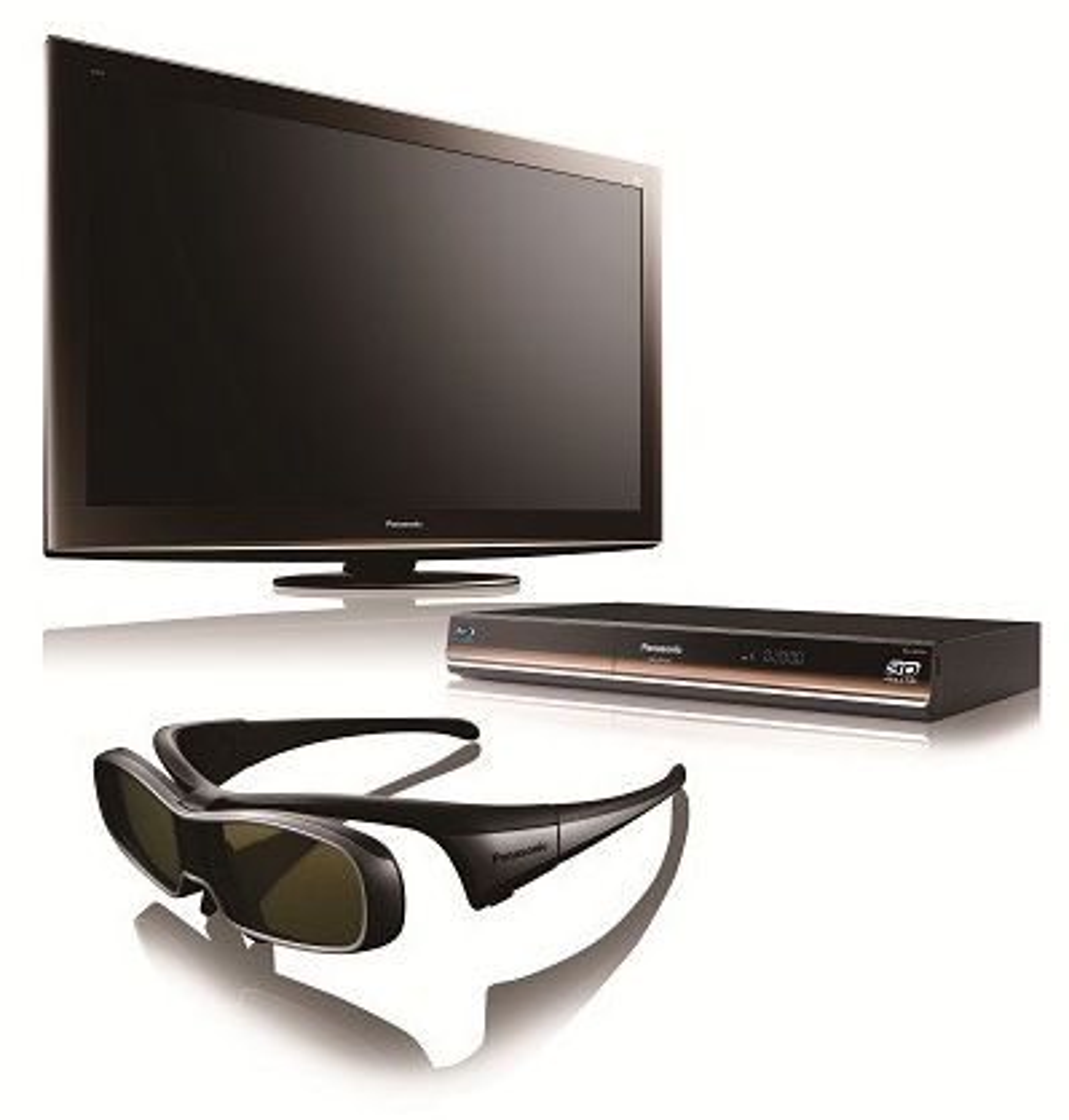 Et knippe 3D-relaterte produkter fra Panasonic