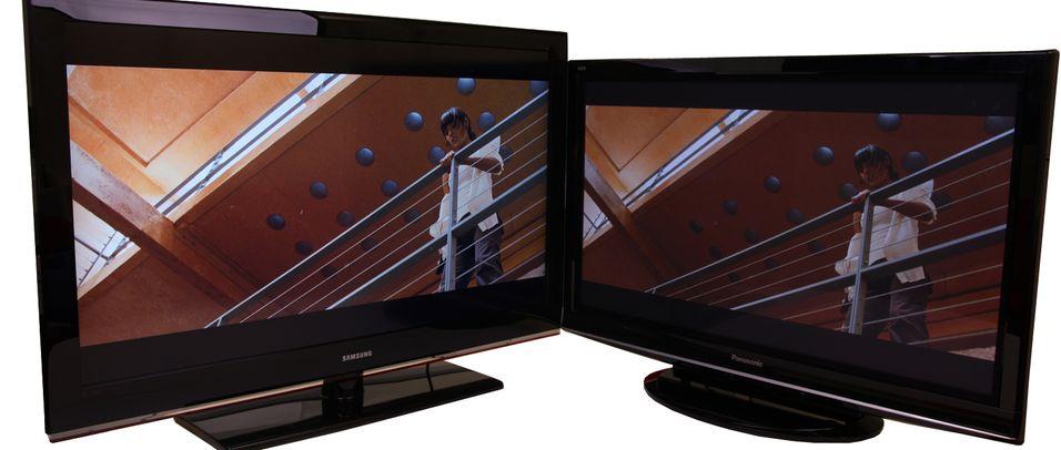 Populære TV-er: Samsung LE46B535 (venstre) og Panasonic P42G10E