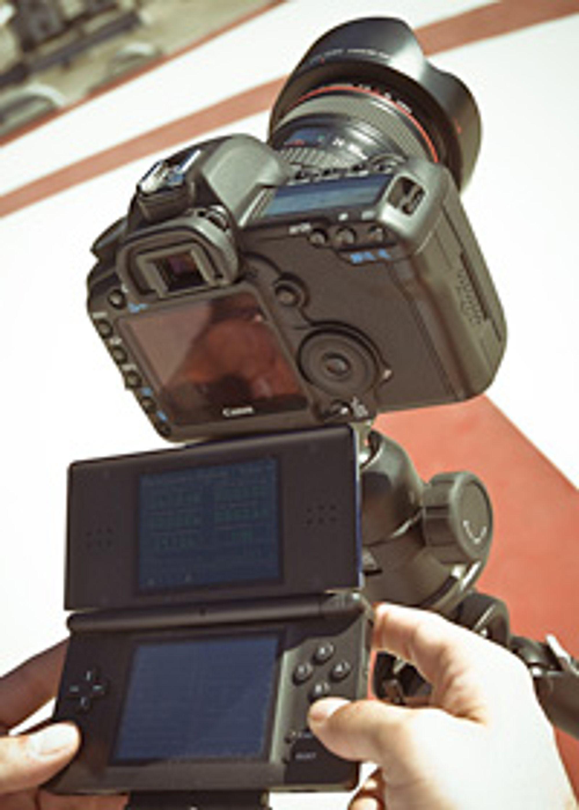 Nintendo DS med Canon 5D Mk2.