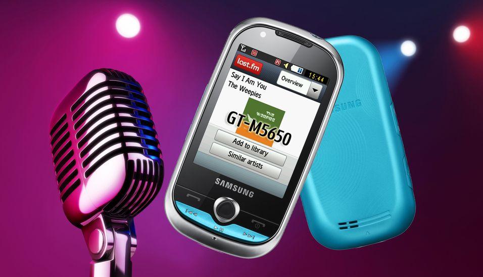 Samsung M5650 er en liten fargeklatt med musikalske gener.