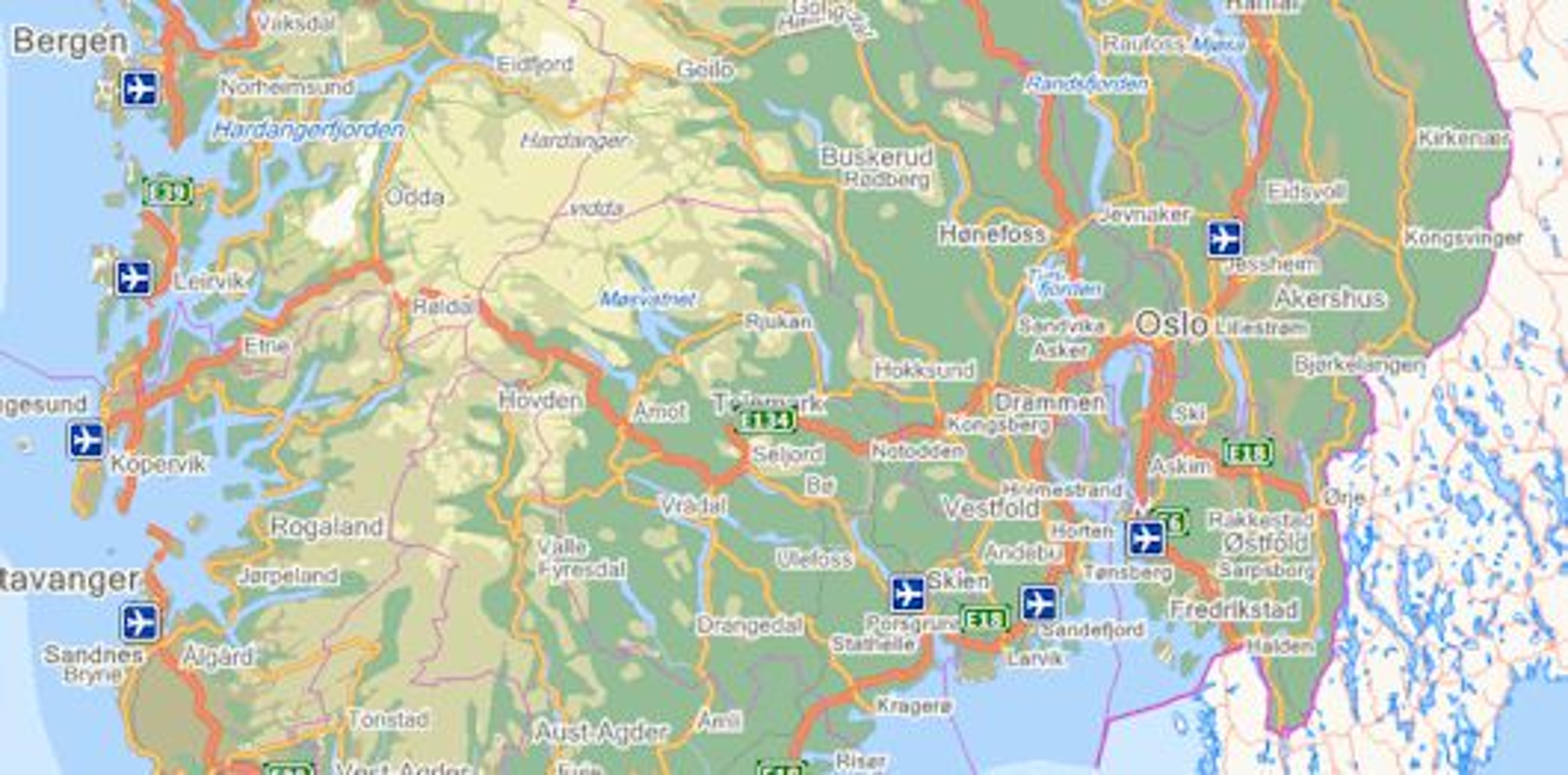 finn kart norge GUIDE: Kart på nettet Nettets mange karttjenester   Norge   Tek.no finn kart norge