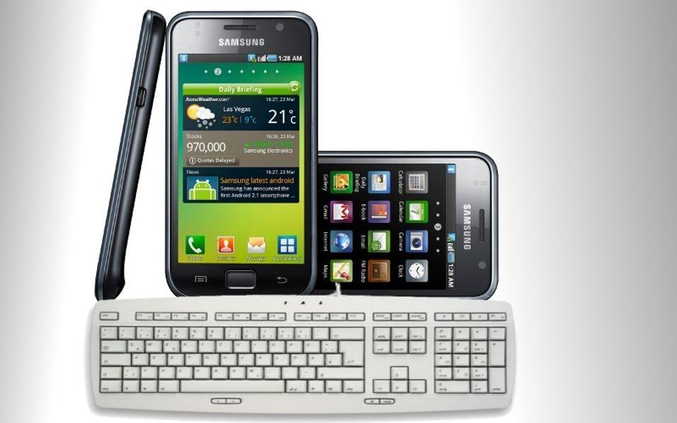 Galaxy S med fulltastatur?