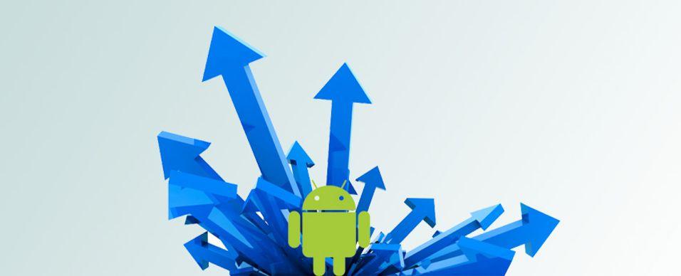Ekstrem økning i Android Market