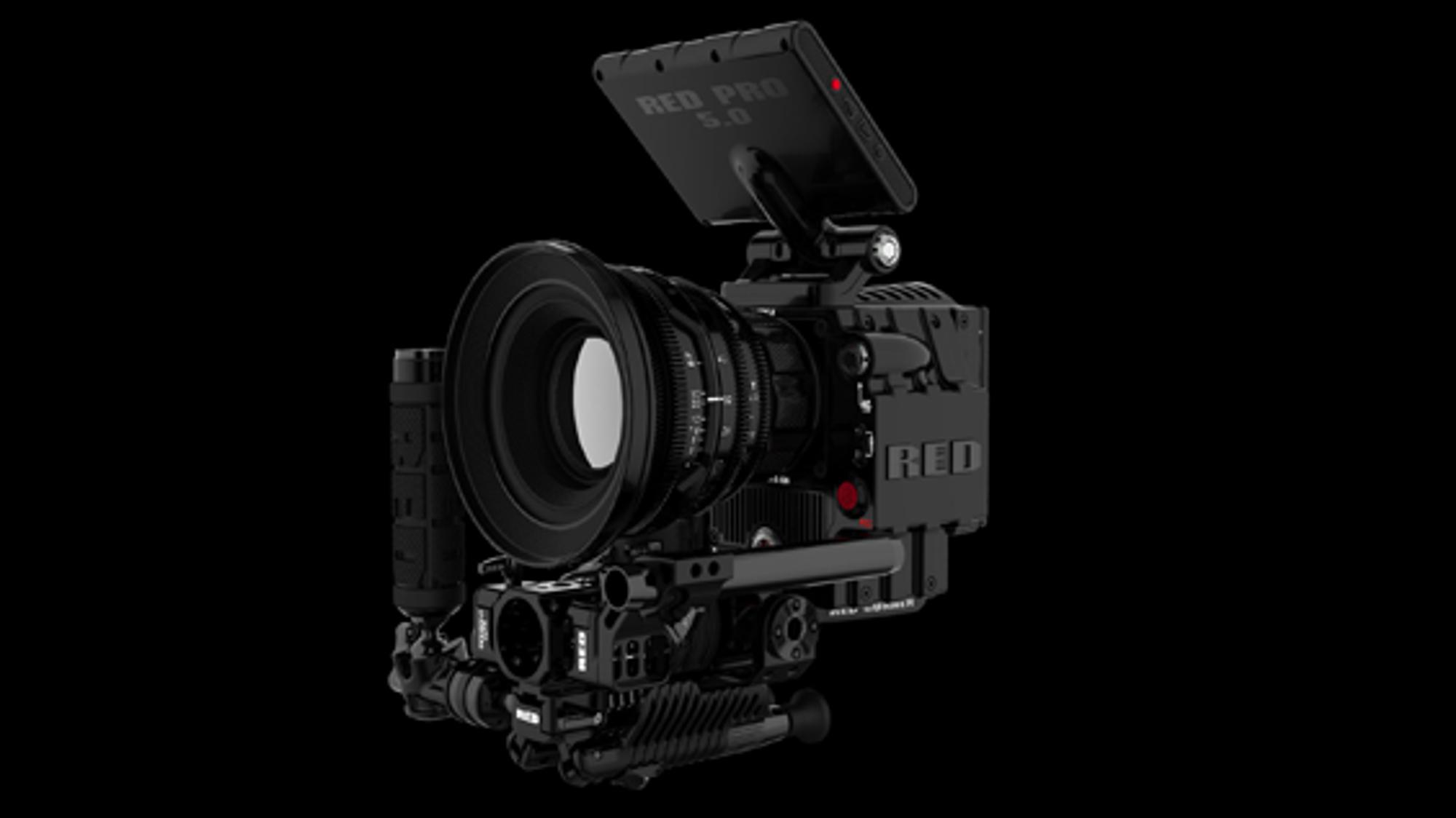 En mulig modulkombinasjon. Red sier kameraet også kan brukes som en vanlig speilrefleks. De kaller det DSCM (Digital Still & Motion Camera).