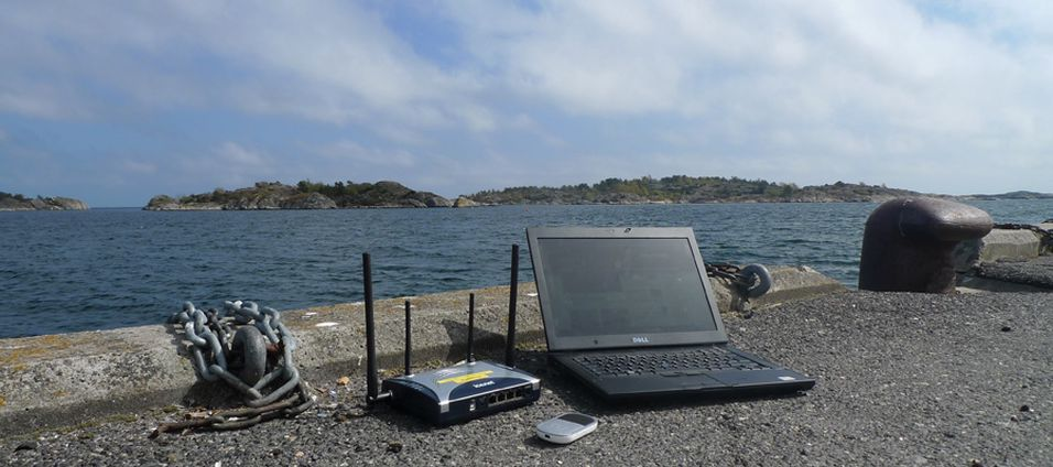 Ut mot havet! Vi tester mobile bredbåndsrutere. (Foto: Finn Jarle Kvalheim)