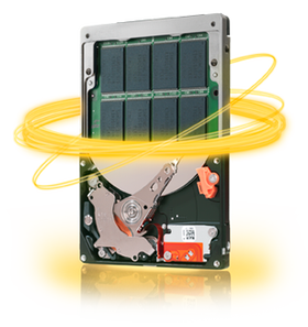 Vanlige harddisker med innebygd flashminne har med tiden blitt ganske utbredt.