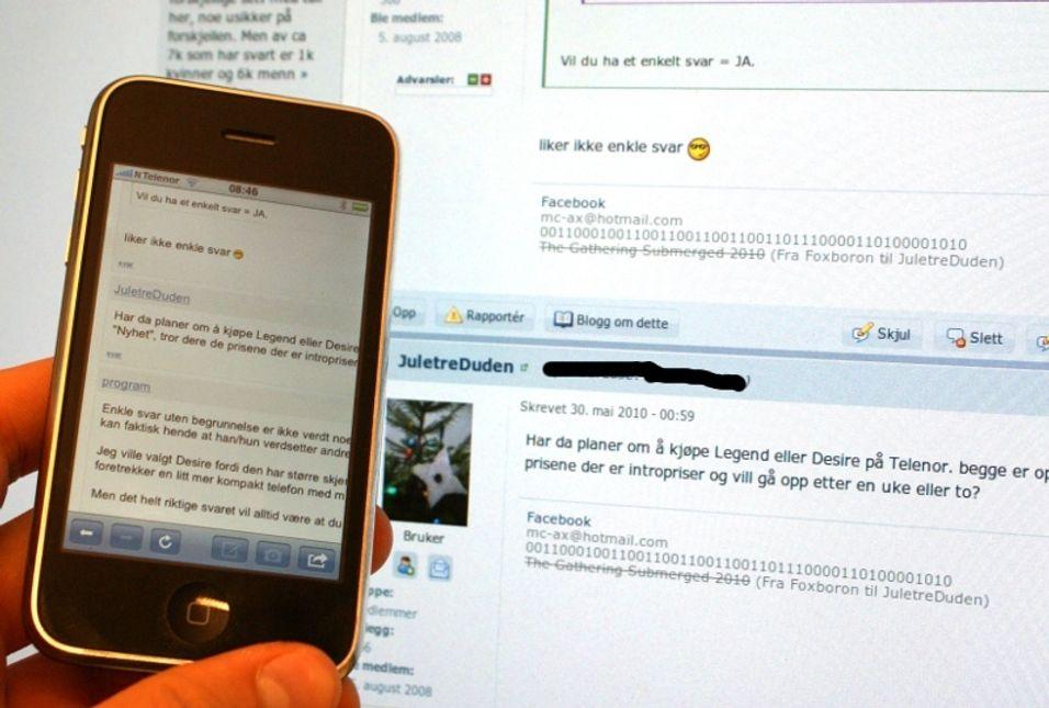 Iphone-applikasjon for forumet