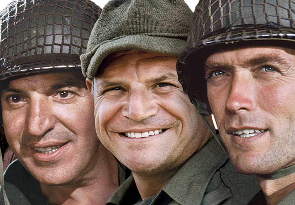 Telly Savalas, Don Rickles og Clint Eastwood i Kelly's Heroes.