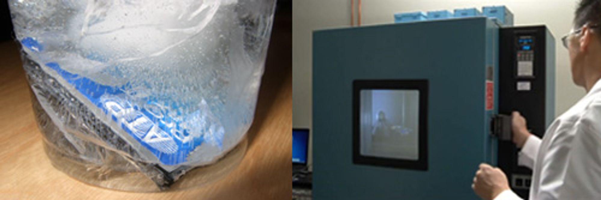 Akam og Lexar tester kuldeutholdenhet på litt forskjellige måter.