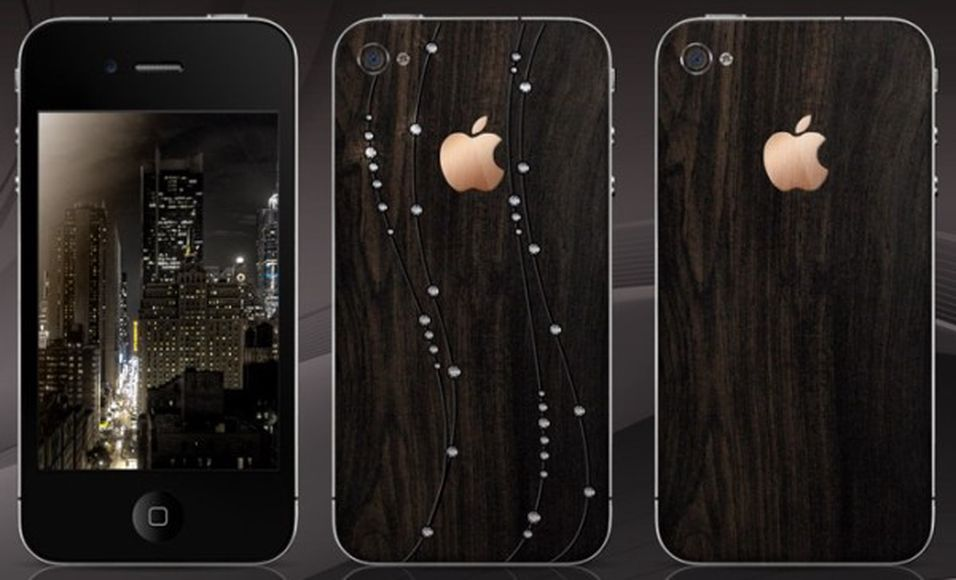 En Iphone 4 full av diamanter
