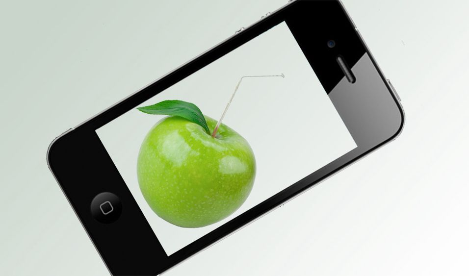 Iphone 4 i hardt vær