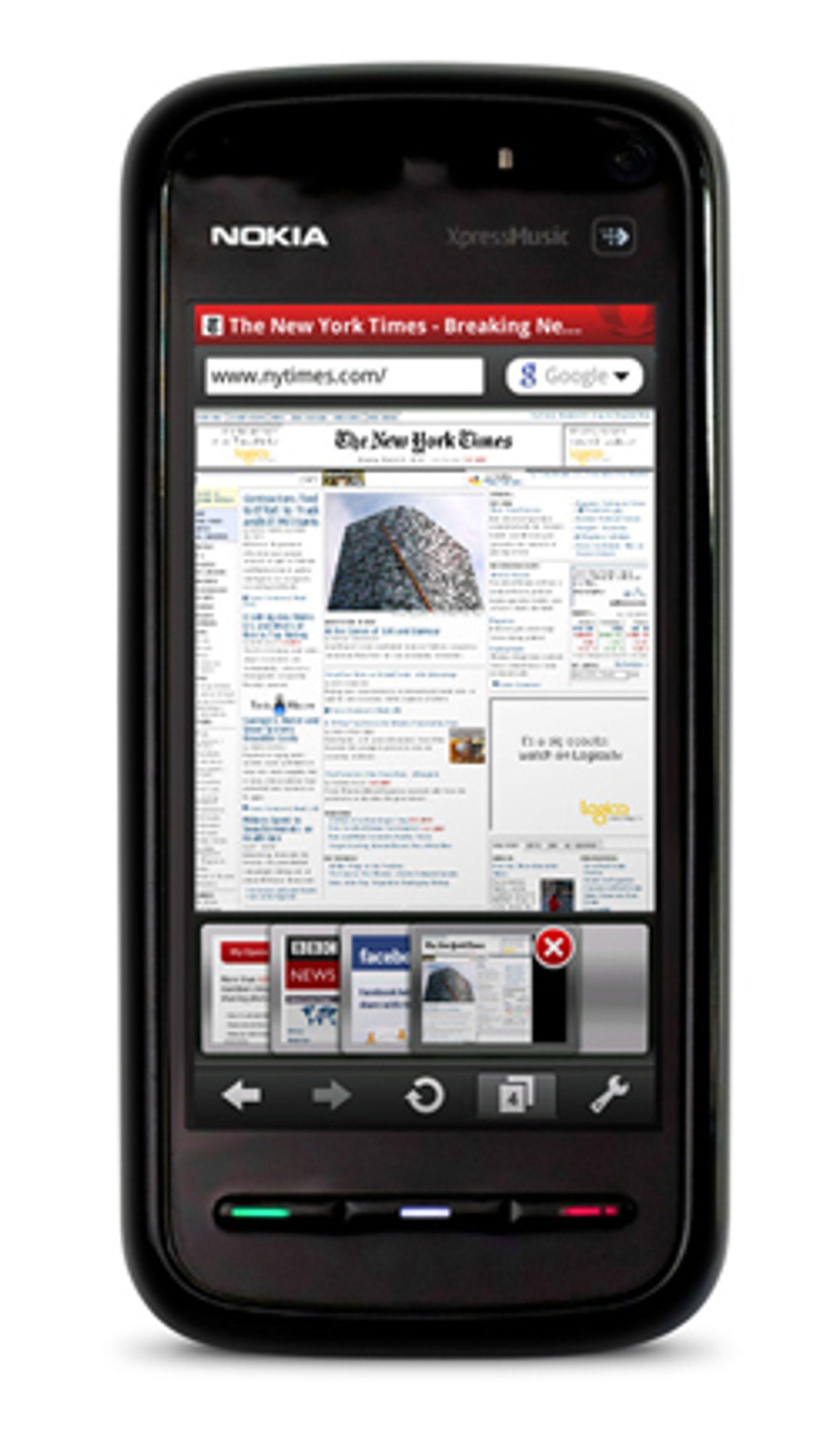 Opera Mobile på en S60-telefon. (Foto: Opera)