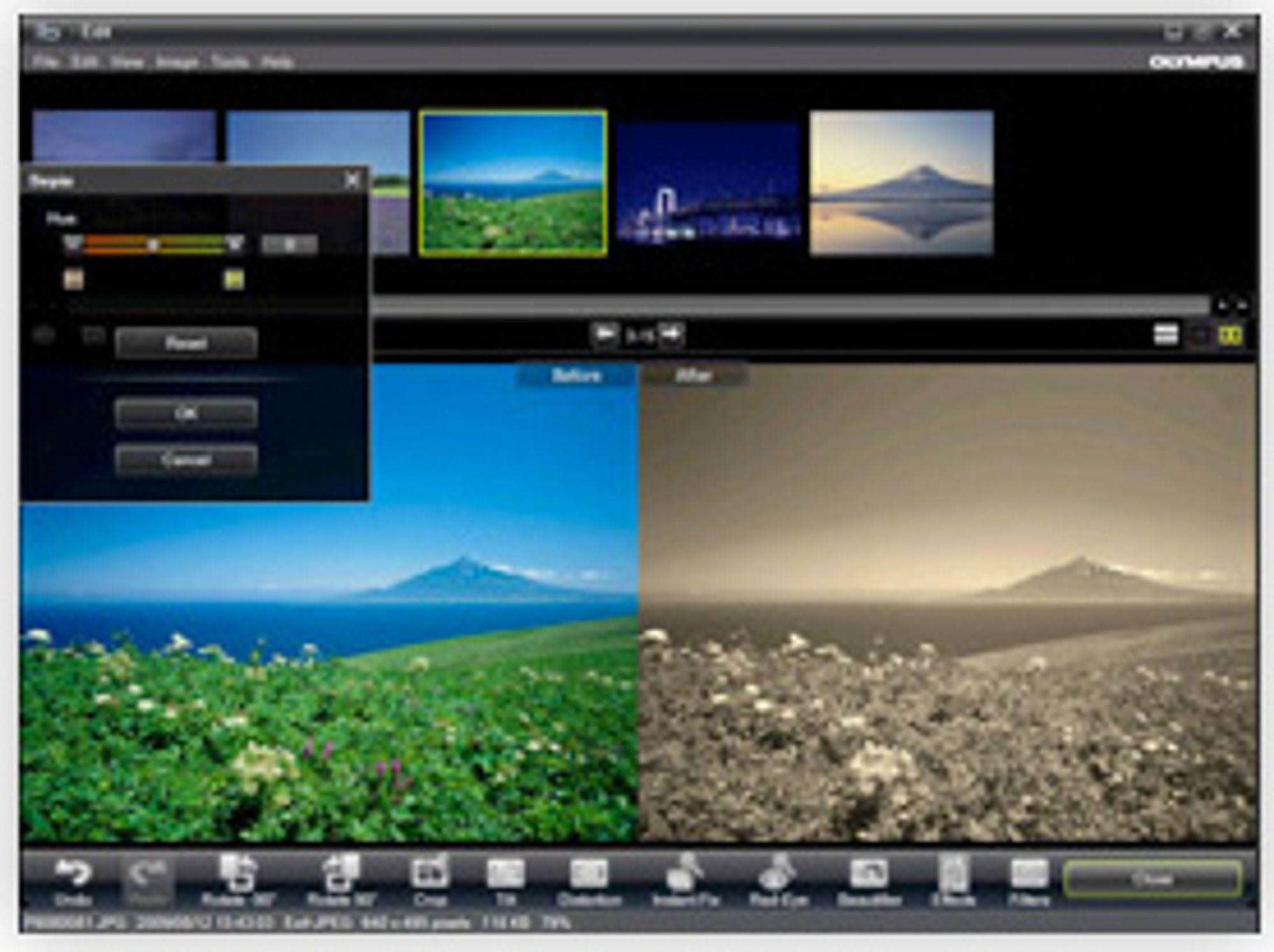I IB kan du blant annet legge på filter på bildene dine.