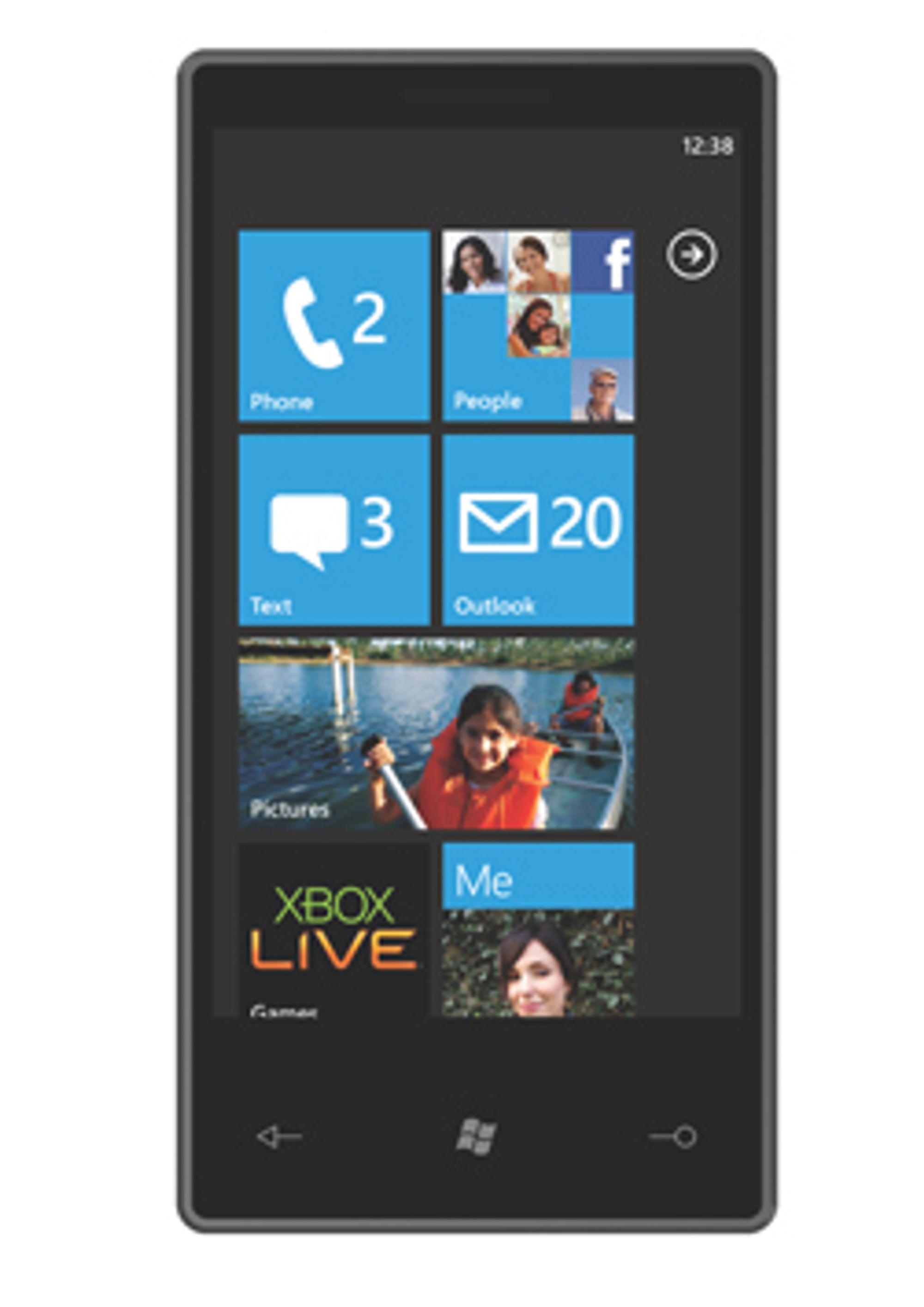 Skjermbilde fra Windows Phone 7. (Foto: Microsoft)