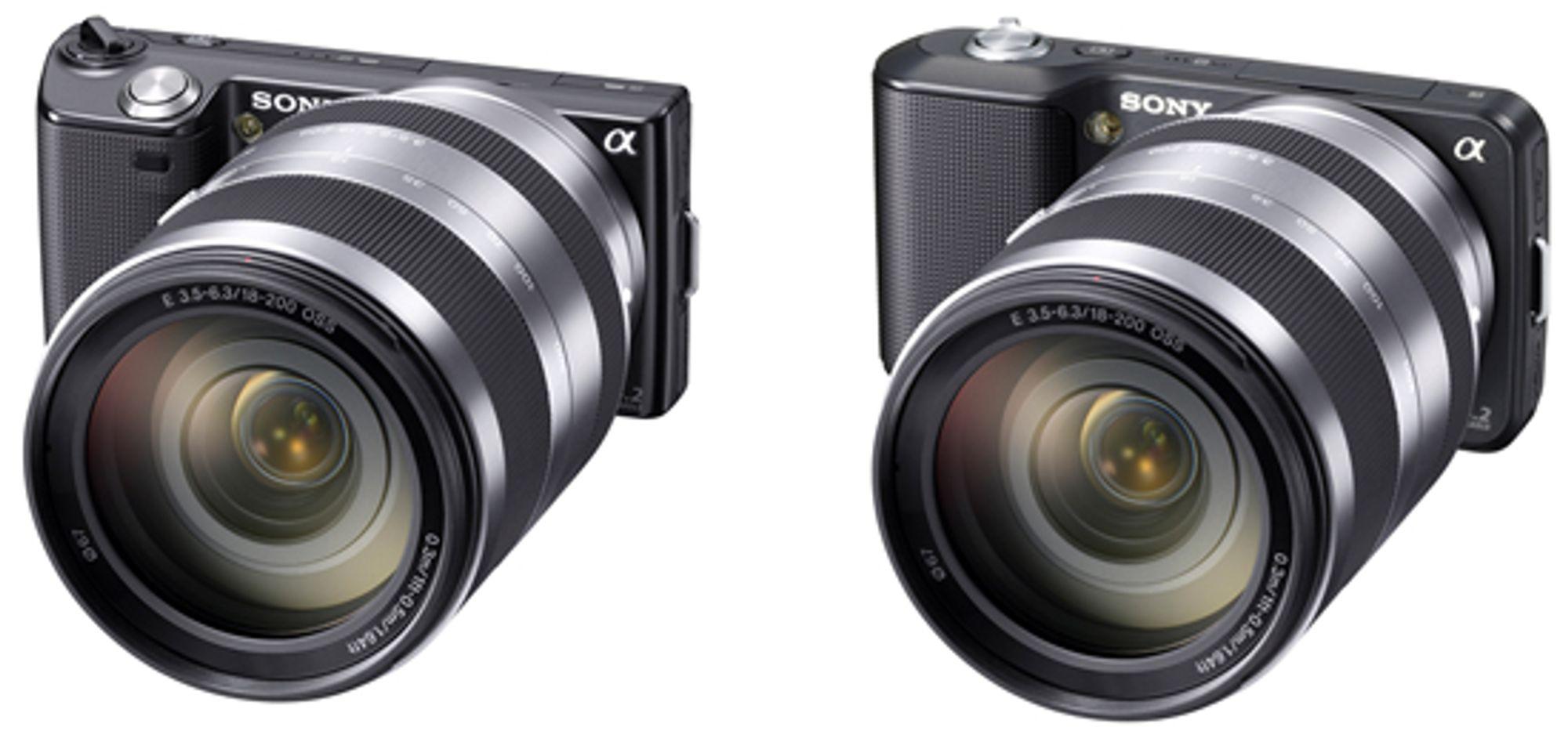 Sony NEX-3 og NEX-5 er blant kameraene som nå støttes av Apple-programvare.